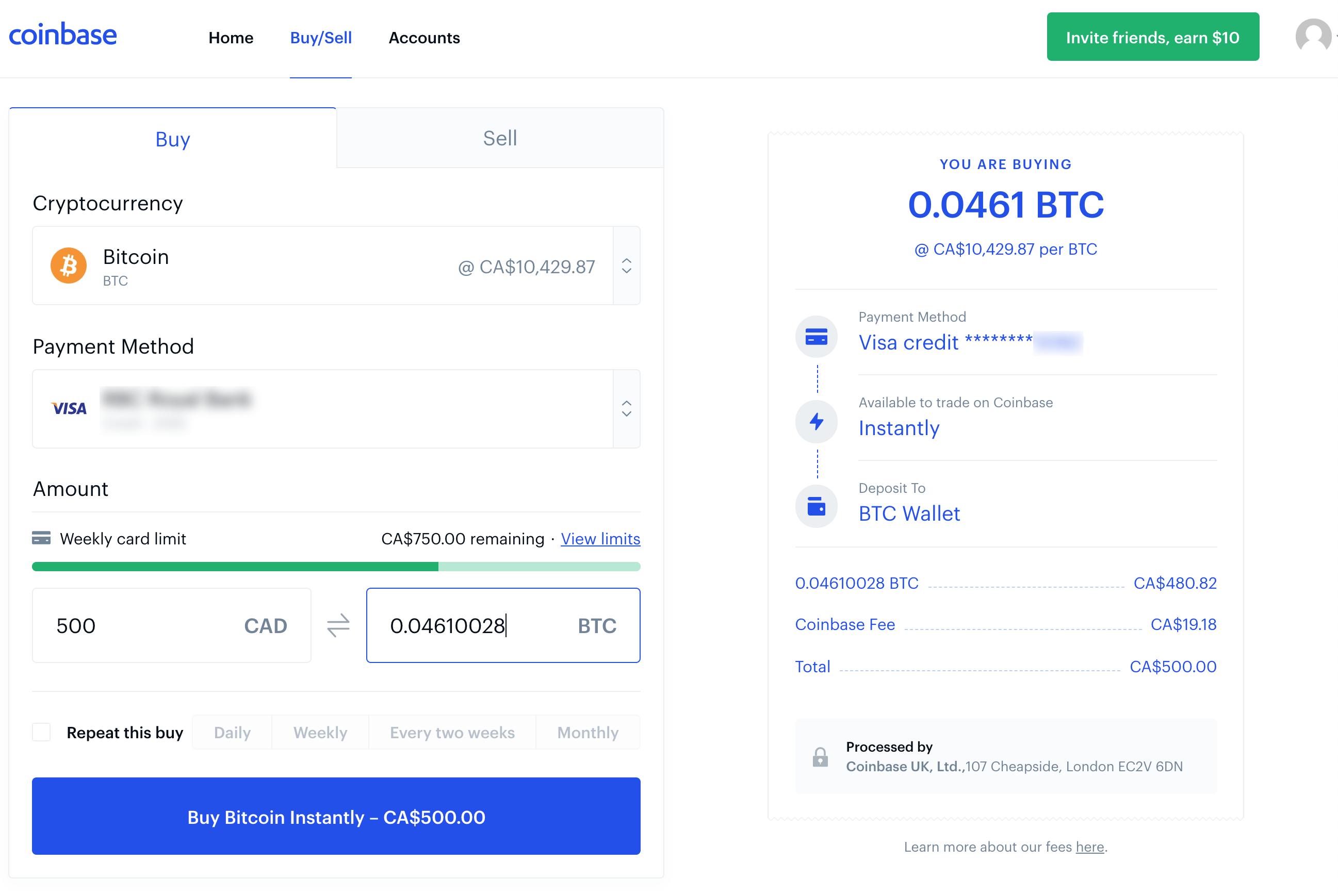 coinbase bitcoin to usd